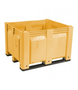 40 x 48 x 31 Solid Wall Container Bin Decade Full MACX Solid Yellow LS Bin M40SYL1 OWS CP-S-40-F-Yellow