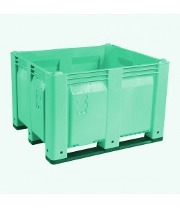 40 x 48 x 31 Green Solid Wall Container Bin Decade Full MACX Solid LS Bin M40SGN1 OWS CP-S-40-F-Green