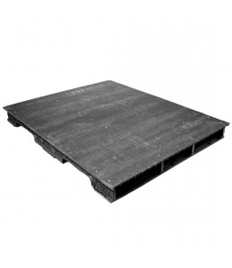 42 x 50 Stackable Solid-Deck Plastic Pallet - Black - PPC ppc4250-3B-3SB OWS PP-S-4250-RC Repose Top
