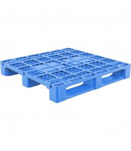 43 x 43 Rackable Stackable Plastic Pallet w/Metal Rods - Blue - 3 Runners - DARML4001 - PP-O-4343-R1.3R.003-Blue Repose Top