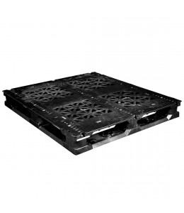 44 x 48 Rackable Stackable Plastic Pallet w/3 Reinforcing Rods - Greystone GS.44.48.003 OWS PP-O-4448-R-003 Repose Top