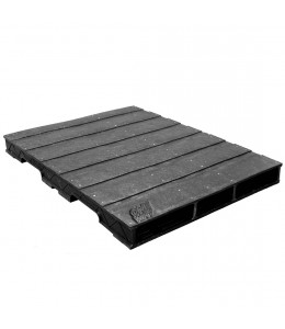 44 x 56 Heavy Duty Solid Deck Rackable Plastic Pallet - PPC ppc4456-3 OWS PP-S-4456-RC Repose Top