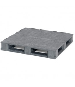 45 x 45 Rackable Solid Deck Plastic Pallet - 6 Runners Cabka IPS Endur C7.2 (CD-6R) OWS PP-S-4545-C7.6R Repose Top