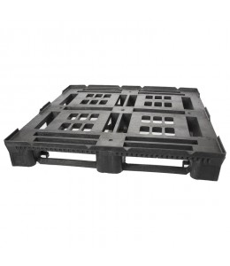 45 x 48 Heavy Duty Stackable Plastic Pallet - Intermittent Perimeter Lip Greystone R4845-IL OWS PP-O-45-SD-IL Repose Top