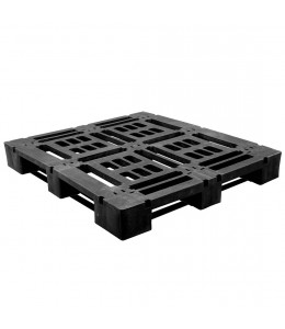 45 x 48 Heavy Duty Stackable 6 Runner Plastic Pallet- Greystone R4845 OWS PP-O-45-SD Repose Top