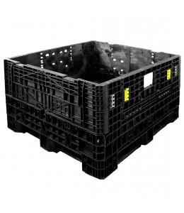 45 x 48 x 34 Refurbished Collapsible Bulk Bin - APR 48 x 45 x 34 OWS REFB-4548-34 Repose Top