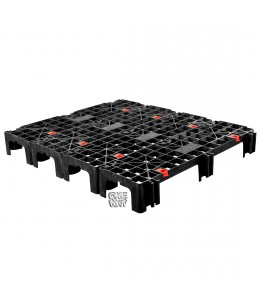 48 x 40 Nestable Light Duty Plastic Build-A-Pal Pallet - Fastlock FLP-02-003 OWS P-O-40-NFL Repose Top 4