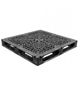 48 x 48 Rackable Stackable Reinforced Plastic Pallet - 5 Rods - Greystone OS.48.48.6R5 OWS PP-O-48-R2.005 Repose Top