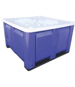 48 x 48 x 3 White Solid Container Bin Lid