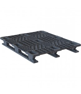 40 x 48 Nestable Plastic Pallet Light Duty - Plasgad Pallet 107 OWS PP-O-40-SLP Repose Top