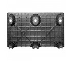 24 x 48 Nestable Solid Deck Plastic Pallet - CTC 4824-CTC-C OWS PP-S-2448-NG Standing Bottom