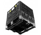 30 x 32 x 25 Collapsible Container Bin - Triple Diamond Plastics TDP-3230-25 OWS CP-S-32-C-25 Bottom