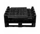 30 x 32 x 25 Collapsible Container Bin - Triple Diamond Plastics TDP-3230-25 OWS CP-S-32-C-25 Collapsed