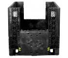 30 x 32 x 25 Collapsible Container Bin - Triple Diamond Plastics TDP-3230-25 OWS CP-S-32-C-25 Drop Door