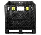 30 x 32 x 25 Collapsible Container Bin - Triple Diamond Plastics TDP-3230-25 OWS CP-S-32-C-25 HeadOn