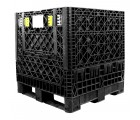 30 x 32 x 25 Collapsible Container Bin - Triple Diamond Plastics TDP-3230-25 OWS CP-S-32-C-25 Repose Top