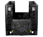 30 x 32 x 34 Collapsible Container Bin - Triple Diamond Plastics TDP-3230-34 OWS CP-S-32-C Drop Door