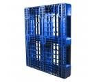 40 X 48 Eco US5 FDA Rackable Plastic Pallet - Blue - CABKA ECO US5 OD-6R-Blue OWS PP-O-40-Eco1FDA standing 3_4