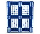 40 X 48 Eco US5 FDA Rackable Plastic Pallet - Blue - CABKA ECO US5 OD-6R-Blue OWS PP-O-40-Eco1FDA standing top head on