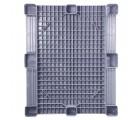 40 x 48 Grey Rackable Plastic FDA Pallet - Decade PNH2001BL OWS PP-S-40-S5FDA-Grey Standing Bottom