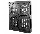 40 x 48 Heavy Duty Rackable Plastic Pallet - Greystone GS.48.40-RFA OWS PP-O-40-R2 Standing 3-4