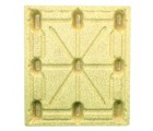 40 x 48 Molded Wood Pallet - Medium Duty Litco Inca IE134840 OWS PW-S-4048-NM Standing Top HeadOn