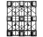 40 x 48 Nestable Ex-Pal 3.1 Plastic Pallet - CABKA CPP 320 OWS PP-O-40-NL3.1 Standing Bottom HeadOn