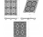 40 x 48 Nestable Light Medium Duty Plastic Pallet With Lip OWS PP-O-40-NM7-L Technical Drawing