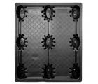 40 x 48 Nestable Solid Deck Distribution Plastic Pallet - Trienda DC4-4048 OWS PP-S-40-NT3 Standing Top HeadOn