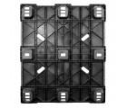 40 x 48 Nestable Solid Deck Plastic Pallet - CABKA CPP320C OWS PP-S-40-NL3 Standing Bottom HeadOn
