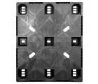 40 x 48 Nestable Solid Deck Plastic Pallet - CABKA CPP320C OWS PP-S-40-NL3 Standing Top HeadOn