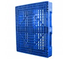 40 x 48 Rackable FDA Plastic Pallet - Polymer Solutions ProGenic 6_ Blue OWS PP-O-40-R4FDA Standing 3-4