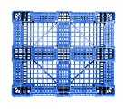 40 x 48 Rackable FDA Plastic Pallet - Polymer Solutions ProGenic 6_ Blue OWS PP-O-40-R4FDA Standing Bottom HeadOn