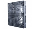 40 x 48 Rackable FDA Plastic Pallet - Polymer Solutions ProGenic 6_Grey OWS PP-O-40-R4FDA-Grey Standing 3-4