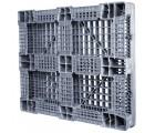 40 x 48 Rackable FDA Plastic Pallet - Polymer Solutions ProGenic 6_Grey OWS PP-O-40-R4FDA-Grey Standing 3-4 Bottom