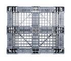 40 x 48 Rackable FDA Plastic Pallet - Polymer Solutions ProGenic 6_Grey OWS PP-O-40-R4FDA-Grey Standing Bottom HeadOn