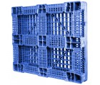 40 x 48 Rackable FM Fire-Retardant Plastic Pallet - Blue - Polymer Solutions Progenic 6 Blue Fire Retardant OWS PP-O-40-R4FM- Blue - 3-4 Bottom