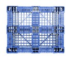 40 x 48 Rackable FM Fire-Retardant Plastic Pallet - Blue - Polymer Solutions Progenic 6 Blue Fire Retardant OWS PP-O-40-R4FM- Blue - Bttom Headon