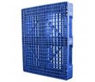 40 x 48 Rackable FM Fire-Retardant Plastic Pallet - Blue - Polymer Solutions Progenic 6 Blue Fire Retardant OWS PP-O-40-R4FM- Blue - Standing 3-4