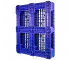 40 x 48 Rackable Plastic FDA Pallet - Polymer Solutions DLR OWS PP-O-40-R7FDA Standing 3-4 Bottom