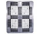 40 x 48 Rackable Plastic FDA Pallet - Grey - Polymer Solutions DLR OWS PP-O-40-R7FDA-Grey Standing Top HeadOn