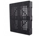 40 x 48 Rackable Plastic Pallet - Polymer Solutions ProGenic 6_ Black OWS PP-O-40-R4 Standing 3-4