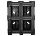 40 x 48 Rackable Solid Deck Cross Plastic Pallet - CABKA Nest US5.1 (CD-6R) CPP326C OWS PP-S-40-RX Standing Bottom HeadOn