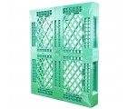 40 x 48 Rackable Stackable FDA Pallet - Green - Polymer Solutions Progenic 6 OWS PP-O-40-R5FDA-Green Standing 3-4
