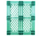 40 x 48 Rackable Stackable FDA Pallet - Green - Polymer Solutions Progenic 6 OWS PP-O-40-R5FDA-Green Standing Bottom HeadOn