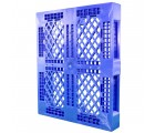 40 x 48 Rackable Stackable FDA Pallet - Blue w/Lip - Polymer Solutions Progenic 6 w/Lip  OWS PP-O-40-R5FDA-Blue-L Standing 3-4