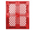 40 x 48 Rackable Stackable FDA Pallet - Red - Polymer Solutions Progenic 6 OWS PP-O-40-R5FDA-Red Standing Top HeadOn