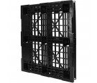 40 x 48 Rackable Stackable Mid-Duty 6 Runner Plastic Pallet - Assembled - PP-O-40-RX7A - Standing 3/4