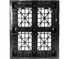 40 x 48 Stackable Light-Duty 6 Runner Plastic Pallet - Assembled - PP-O-40-SX7A - Standing Top