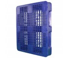 40 x 48 Rackable Ventilated Plastic Pallet - Blue - Polymer Solutions DLR Blue OWS PP-O-40-R7FM-Blue Standing 3-4